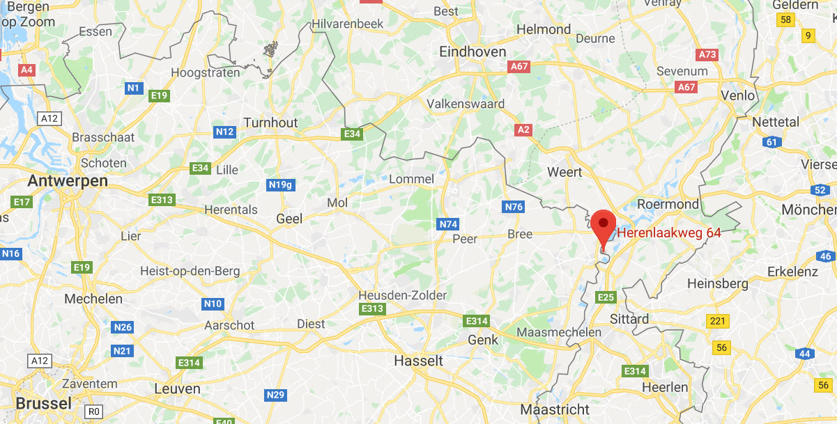 De route naar Erotic Palace 7 Sins, Maaseik, België